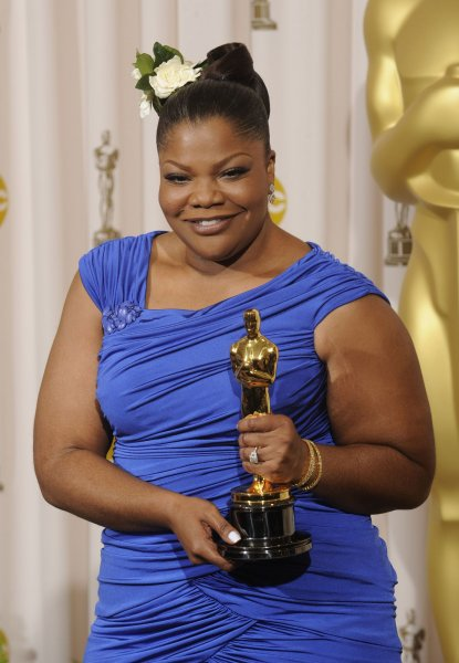 Best Supporting Actress winner Mo'Nique appears backstage with her Oscar for Precious: Based on the Novel 'Push' by Sapphire at the 82nd annual Academy Awards in Hollywood on March 7, 2010. The actor turns 52 on December 11. File Photo Phil McCarten/UPI