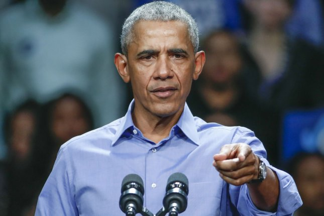 Former President Barack Obama speaks at a campaign rally for Illinois Democrats on November 2018. Barack Obama and his wife, former first lady Michelle Obama, will be taking part in YouTube's Dear Class of 2020 event along with BTS. File Photo by Kamil Krzaczynski/UPI