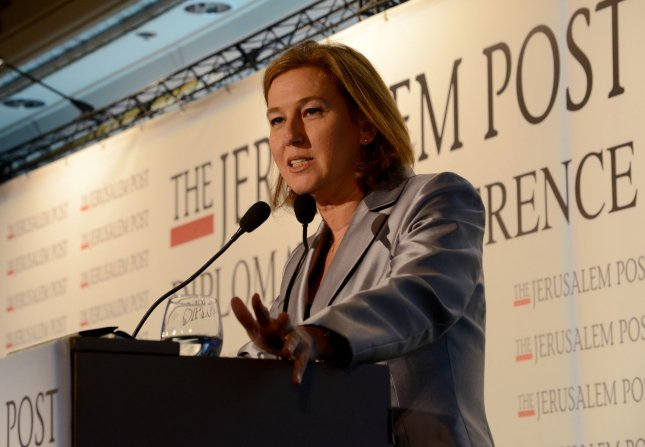 Israeli Justice Minister and chief negotiator with the Palestinians, Tzipi Livni speaks at The Jerusalem Post Diplomatic Conference in Herzliya, Israel, October 24, 2013. UPI/Debbie Hill