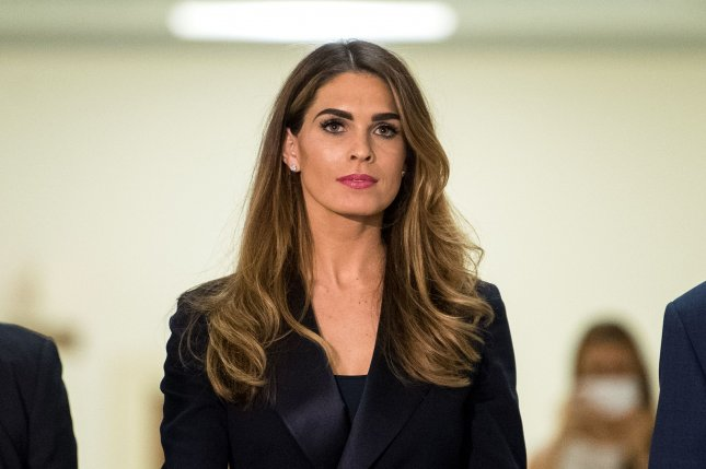 The full transcript from Hope Hicks' interview with the House judiciary committee was expected later this week. Photo by Kevin Dietsch/UPI