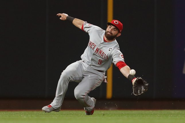Former Cincinnati Reds infielder Jose Peraza spent the last four seasons with the club. File Photo by Bill Greenblatt/UPI
