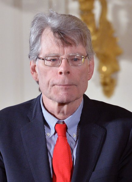 Stephen King is awarded the National Medal of Arts on September 2015. King's series Mr. Mercedes is moving to Peacock. File Photo by Kevin Dietsch/UPI