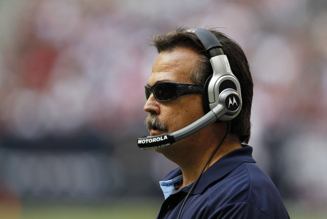 Tennessee Titans head coach Jeff Fisher watches his team take on the Houston Texans in the second half at Reliant Stadium in Houston, Texas on November 28, 2010. The Texans defeated the Titans 20-0. UPI/Aaron M. Sprecher