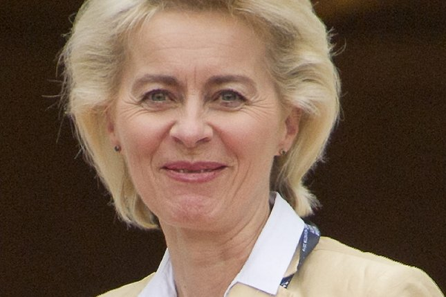 German Defense Minister Ursula von der Leyen was elected head of the European Commission on Tuesday. File Photo by Ron Sachs/UPI/Pool