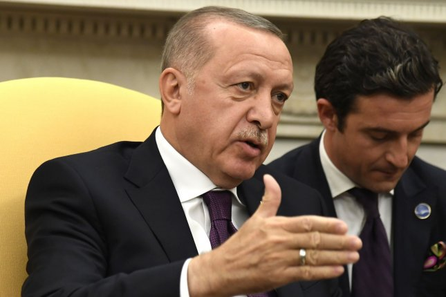 Turkish President Recep Tayyip Erdogan, shown in November at the White House, said his country will use its military if needed to enforce a cease-fire in Idlib. Photo by Mike Theiler/UPI
