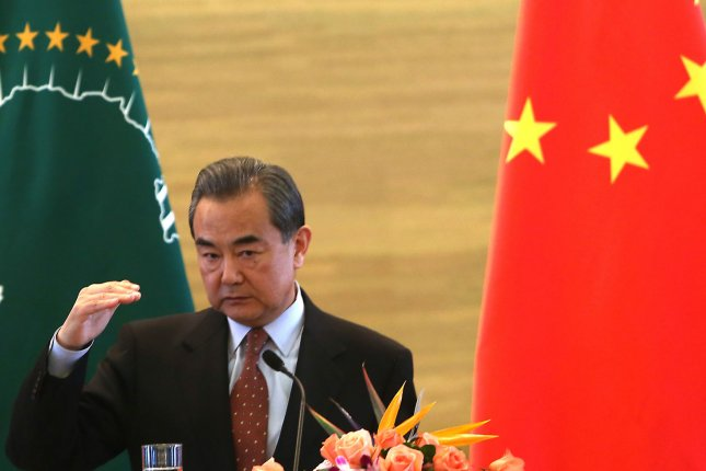 Chinese Foreign Minister Wang Yi warned Friday against criticism of the Chinese Communist Party and sanctions against Chinese firms. File Photo by Stephen Shaver/UPI