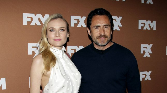 Diane Kruger and Demi‡n Bichir arrive on the red carpet at the 2013 FX Upfronts at Lucky Strike Lanes in New York City on March 28, 2013. UPI/John Angelillo