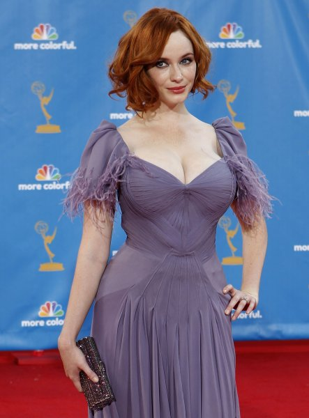 Christina Hendricks arrives at the 62nd Primetime Emmy Awards at the Nokia Theatre in Los Angeles on August 29, 2010. UPI/Lori Shepler