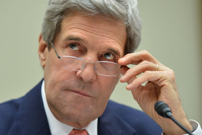 Secretary of State John Kerry, pictured in March 2014, expressed frustration and disappointment that American journalist Steven Sotloff was executed by the Islamic State. (UPI/Kevin Dietsch).
