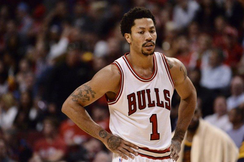 Chicago Bulls guard Derrick Rose. Photo by Brian Kersey/UPI