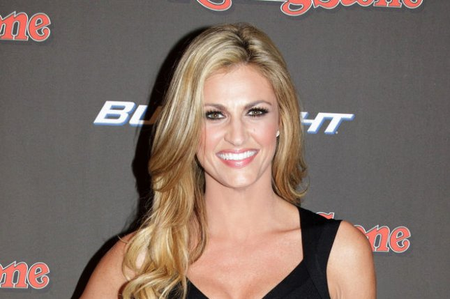 Erin Andrews arrives on the blue carpet for Super Bowl XLVII weekend on February 1, 2013. Andrews will be absent from Dancing with the Stars this week to support her boyfriend Jarret Stoll. File Photo by Ellis Lucia/UPI