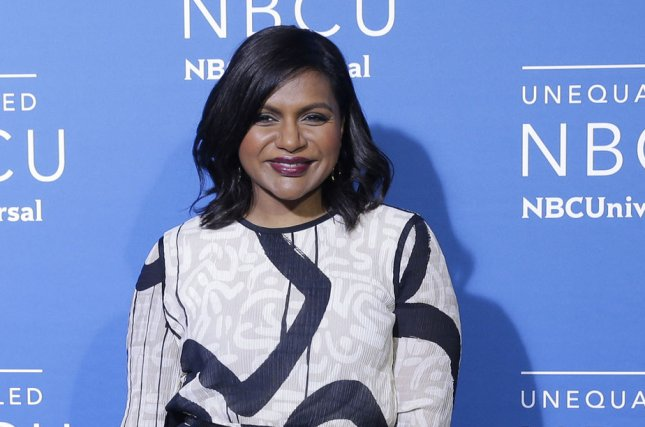 Mindy Kaling attends the NBCUniversal upfront on May 15. The actress' co-stars said Friday that Kaling is pregnant with a daughter. File Photo by John Angelillo/UPI