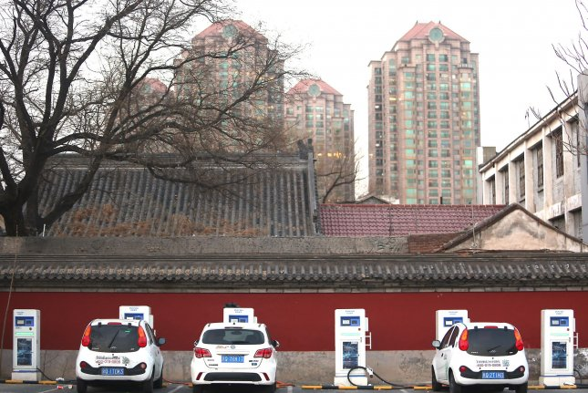 The Chinese government wants a tech center set up to help keep pace with demand for alternative vehicles. File photo by Stephen Shaver/UPI