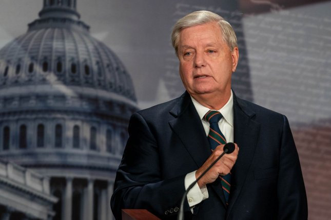 Sen. Lindsey Graham called on the Senate to dismiss the article of impeachment against President Donald Trump for inciting an insurrection at the Capitol rather than carry on with a trial after he has left office.Photo by Ken Cedeno/UPI