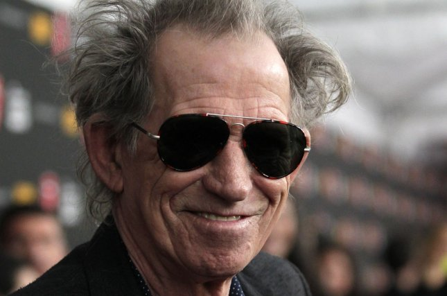 Keith Richards of the Rolling Stones speaks to the media on the red carpet at the premiere of HBO's Crossfire Hurricane at the the Ziegfeld Theater in New York City on November 13, 2012. UPI/John Angelillo