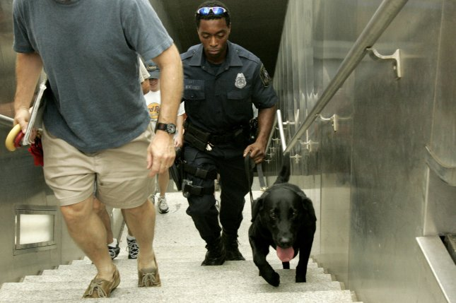 Dozens of schools across six states were evacuated or closed after receiving bomb or sniper threats via email or robocalls. Though no credible threat was found, police with bomb sniffing dogs went through many campuses. (UPI Photo/Kevin Dietsch)