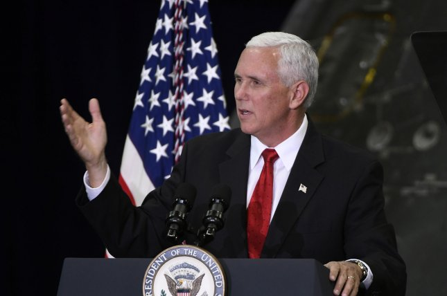 Vice President Mike Pence told a gathering of governors they should support the Republican-led effort to reform healthcare. Photo by Bill Cantrell/UPI