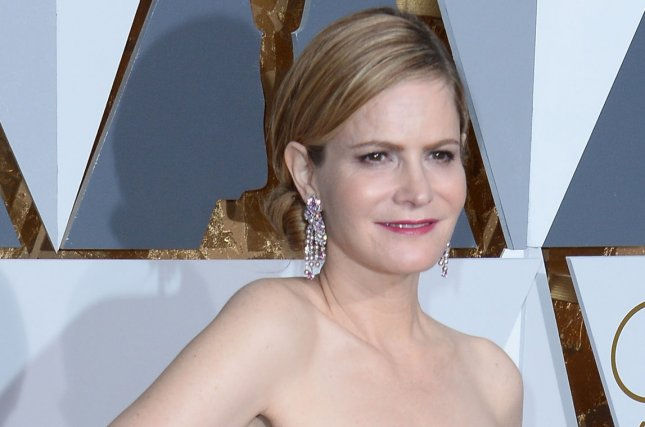 Atypical star Jennifer Jason Leigh is seen here at the 88th Academy Awards in Los Angeles on February 28, 2016. File Photo by Jim Ruymen/UPI