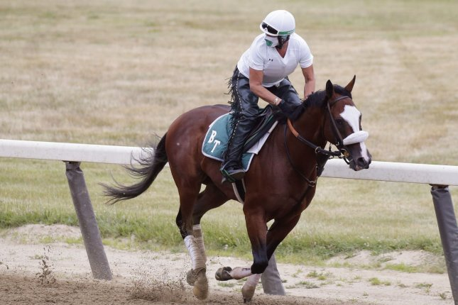 Tiz the Law is the betting favorite to win the 2020 Belmont Stakes on Saturday at Belmont Park in Elmont, N.Y. Photo by John Angelillo/UPI
