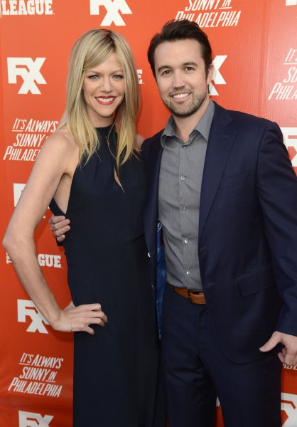 It's Always Sunny in Philadelphia -- starring Kaitlin Olson (L) and Rob McElhenney -- has been renewed for four more seasons. File Photo by Phil McCarten/UPI