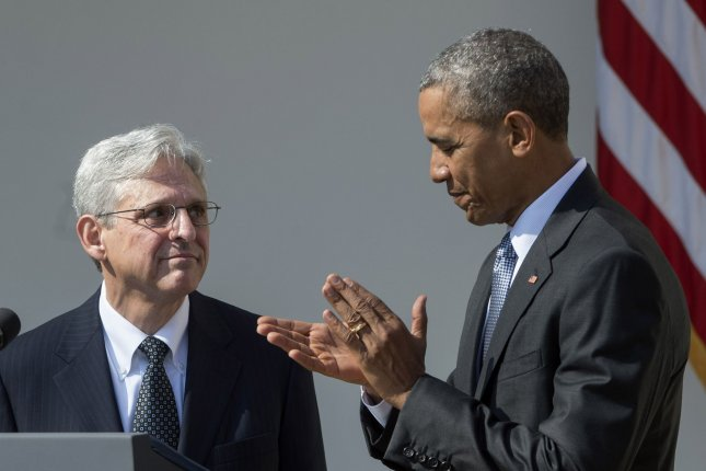 In 2016, the Senate's Republican majority blocked President Barack Obama's nomination of Merrick Garland to the Supreme Court by refusing to hold a hearing or vote on his nomination. File Photo by Pat Benic/UPI