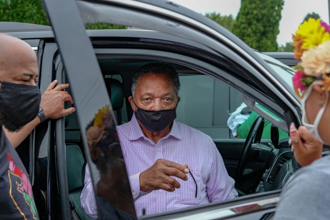 Rev. Jesse Jackson was released from a physical rehab facility where he underwent physical therapy for his Parkinson's Disease on Wednesday. File Photo by Alex Wroblewski/UPI