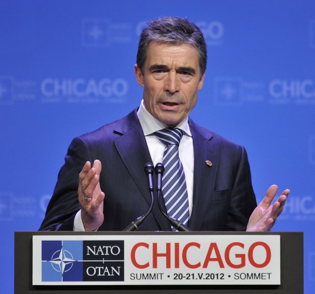 NATO Secretary General Anders Fogh Rasmussen said the military alliance will not become involved in Syria's civil war unless member-state Turkey is attacked. May 21 file photo. UPI/Brian Kersey