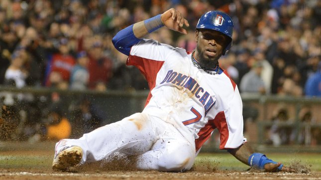 Jose Reyes played for Dominican Republic during the World Baseball Classic. Reyes hit a home run Monday that helped the Toronto Blue Jays to an 8-3 Canada Day win over the Detroit Tigers. UPI/Terry Schmitt