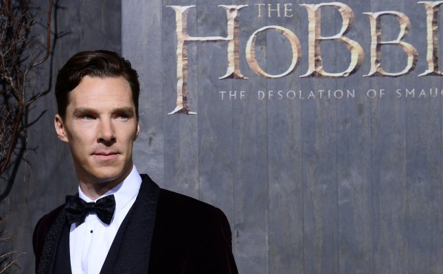 Cast member Benedict Cumberbatch attends the premiere of The Hobbit: The Desolation of Smaug at TCL Chinese Theatre in the Hollywood section of Los Angeles on December 2, 2013. The dwarves, along with hobbit Bilbo Baggins and wizard Gandalf the Grey, continue their quest to reclaim their ancient homeland, Erebor, from Smaug. Bilbo Baggins posseses a powerful and magical ring. The movie is another Hobbit story in the tradition of the Lord of the Rings trilogy from novelist J.R.R. Tolkien. UPI/Jim Ruymen