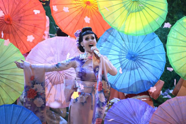 Singer Katy Perry performs Unconditionally onstage at the 41st annual American Music Awards held at Nokia Theatre L.A. Live in Los Angeles on November 24, 2013. UPI/Jim Ruymen