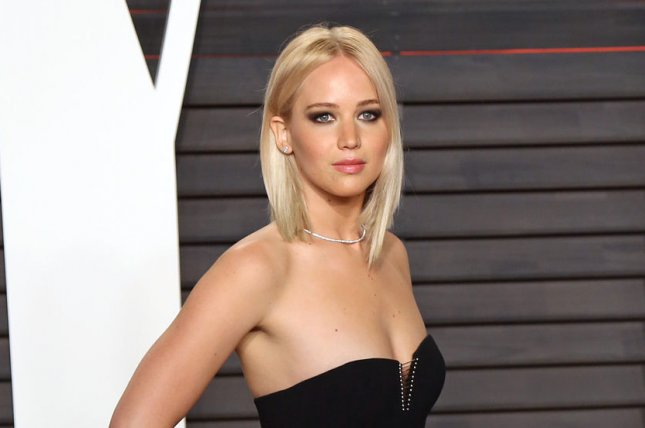 Jennifer Lawrence at the Vanity Fair Oscar party on February 28. The actress plays Mystique in X-Men: Apocalypse. File Photo by David Silpa/UPI