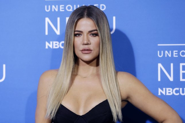 Khloe Kardashian showed off her growing belly Tuesday after confirming she's expecting with boyfriend Tristan Thompson. File Photo by John Angelillo/UPI