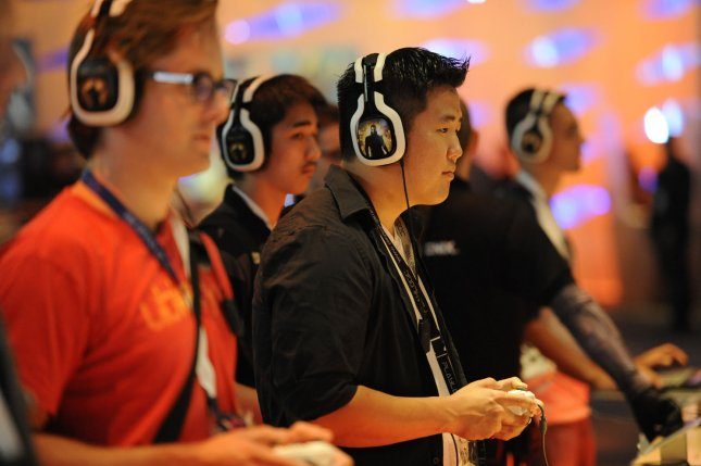 Studies have concluded there is no definitive link between playing video games and violence. File Photo by Phil McCarten/UPI
