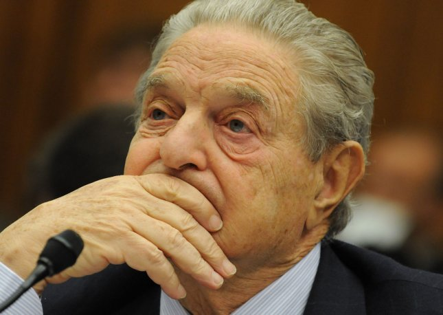 Hedge fund manager George Soros, chairman of Soros Fund Management LLC, testifies during the House Oversight and Government Reform Committee hearing on the regulation of hedge funds on Capitol Hill in Washington on November 13, 2008. (UPI Photo/Yuri Gripas)
