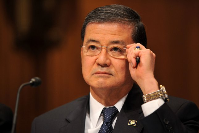Veterans Affairs Secretary Eric Shinseki has been asked to resign by three Republican Senators this week in light of recent scandals with the VA. UPI/Kevin Dietsch