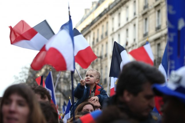 Well-wishers march during a unit rally throughout some of Paris' main avenues, on 11 January 2015. More than 3 million people marched against extremist in the aftermath of attacks carried out by homegrown Muslim fanatics that left 17 people, including police, journalists and jewish hostages dead in separate but concerted incidents. Photo by Eco Clement/UPI