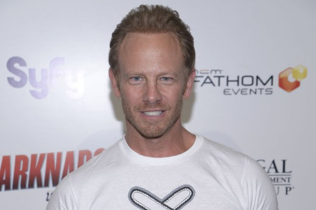Cast member Ian Ziering attends the premiere of Sharknado 2: The Second One in Los Angeles in 2014. File Photo by Phil McCarten/UPI