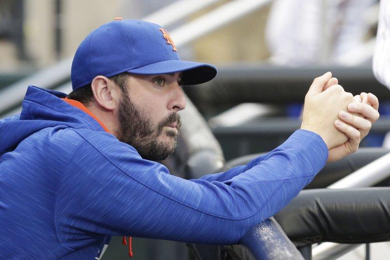 New York Mets pitcher Matt Harvey. Photo by John Angelillo/UPI