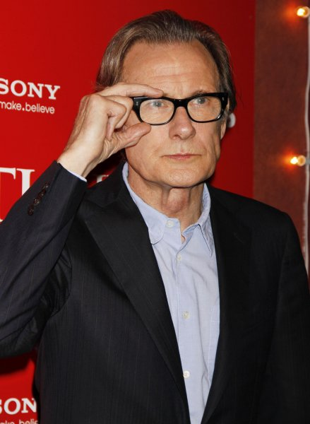 Bill Nighy arrives for the Arthur Christmas special sneak screening at the Clearview Chelsea Theater in New York on November 13, 2011. UPI /Laura Cavanaugh