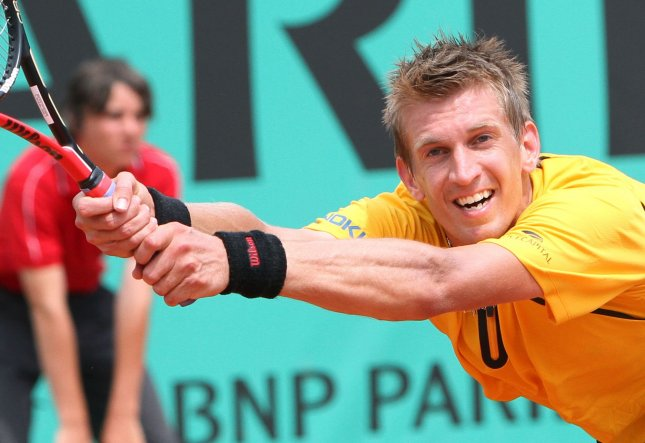 Jarkko Nieminen, shown during this year's French Open, fell Sunday in three sets to Guillermo Garcia-Lopez in the final of the Thailand Open. UPI/David Silpa