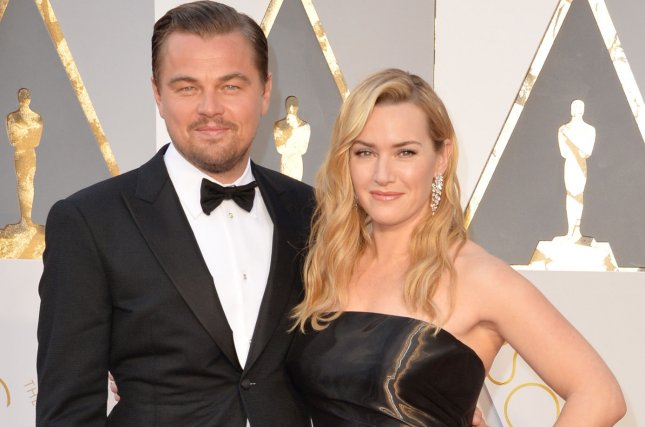 Kate Winslet (R) and Leonardo DiCaprio attend the Academy Awards on February 28, 2016. The actress discussed her friendship with DiCaprio on Tuesday's episode of Lorraine. File Photo by Kevin Dietsch/UPI