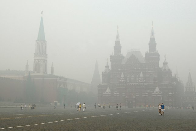 The Kremlin and the Central history museum is seen on Red Square in Moscow. Russia's economy is still performing below 2 percent, even as crude oil prices reach historic highs. File photo by Alex Volgin/UPI