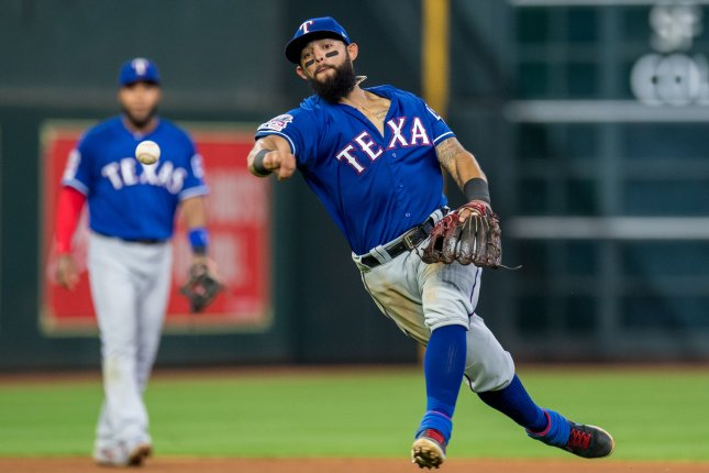 Texas Rangers second baseman Rougned Odor has stolen five bases this year, but is only hitting .177. File Photo by Trask Smith/UPI