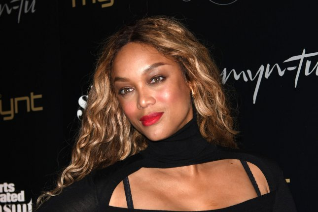 Tyra Banks is the host of Season 29 of Dancing with the Stars. Two contestants are expected to be eliminated on Monday's episode. File Photo by Gary I Rothstein/UPI