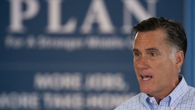 Republican Presidential candidate Governor Mitt Romney speaks at the Jefferson County Fairgrounds in Golden, Colorado on August 2, 2012. UPI/Gary C. Caskey