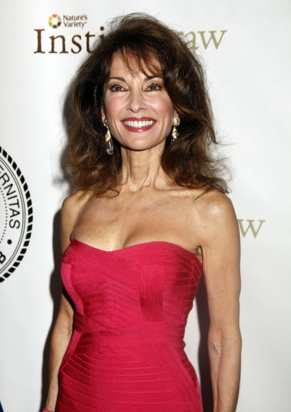 Susan Lucci arrives for the Friars Club Roast of Betty White at the Sheraton Hotel in New York on May 16, 2012. UPI /Laura Cavanaugh