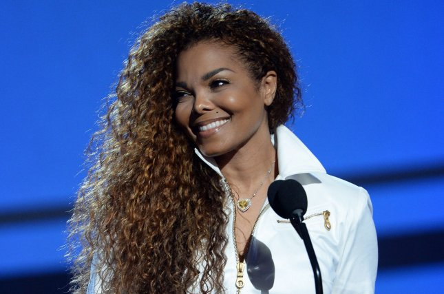 Janet Jackson accepts the Ultimate Icon: Music Dance Visual award during the 15th annual BET Awards at Microsoft Theater in Los Angeles on June 28, 2015. Photo by Jim Ruymen/UPI