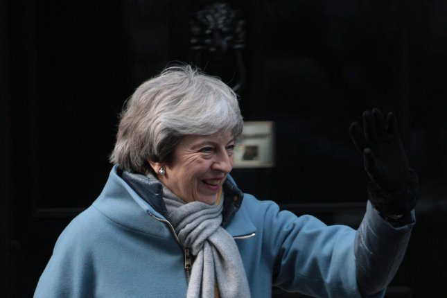 British Prime Minister Theresa May, shown leaving No.10 Downing St. last week, has asked the European Union for a delay in Britain leaving. Photo by Hugo Philpott/UPI