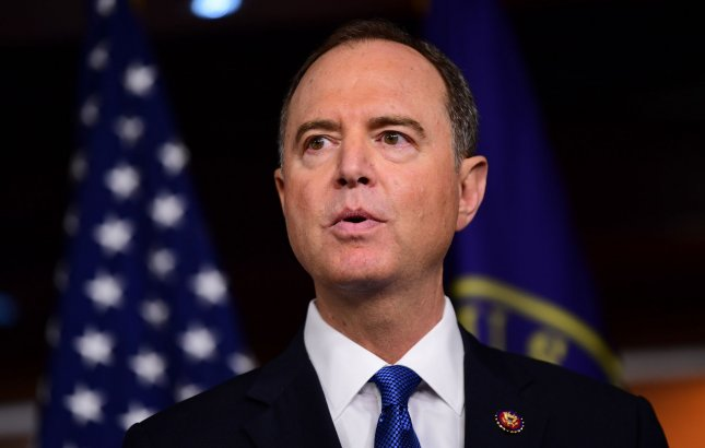 House Intelligence Committee Chairman Adam Schiff, D-Calif., said Tuesday that eight people have been scheduled for public hearings next week. Photo by Kevin Dietsch/UPI