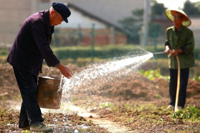 Despited a slight dip in growth numbers, China will take solace in rising rural incomes, which rose 10.1 percent, and urban incomes who grew by 7.2 percent. UPI/Stephen Shaver